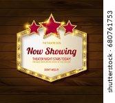 showtime retro signs. retro... | Shutterstock . vector #680761753