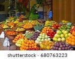 open air market. madeira's... | Shutterstock . vector #680763223
