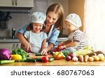 healthy eating. happy family... | Shutterstock . vector #680767063