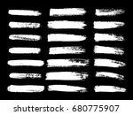painted grunge stripes set.... | Shutterstock .eps vector #680775907