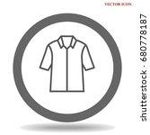 t shirt icon illustration... | Shutterstock .eps vector #680778187