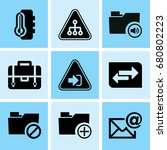 set of 9 web icons such as... | Shutterstock .eps vector #680802223