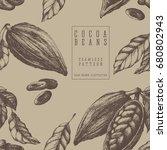 cocoa seamless pattern  retro... | Shutterstock .eps vector #680802943
