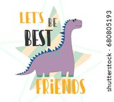 dinosaur vector illustration.... | Shutterstock .eps vector #680805193