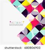 modern geometrical abstract... | Shutterstock .eps vector #680806903