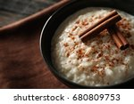 delicious rice pudding with...   Shutterstock . vector #680809753