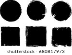 grunge post stamps collection ... | Shutterstock .eps vector #680817973