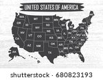 poster map of united states of... | Shutterstock .eps vector #680823193