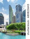 beautiful view of skyscrapers... | Shutterstock . vector #680823643