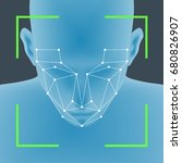 facial recognition system... | Shutterstock .eps vector #680826907