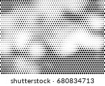 abstract halftone dotted... | Shutterstock .eps vector #680834713