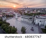 cathedral square in vilnius old ... | Shutterstock . vector #680837767