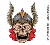 vector illustration of viking... | Shutterstock .eps vector #680850583