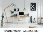 creative designed space for... | Shutterstock . vector #680851687