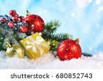 christmas ornament   greeting... | Shutterstock . vector #680852743