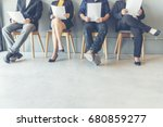 job interview candidate prepare ... | Shutterstock . vector #680859277