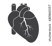 cardiology icon with human...   Shutterstock .eps vector #680860357