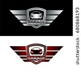 auto garage  car logo | Shutterstock .eps vector #680868193