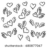 vector illustration hand drawn...   Shutterstock .eps vector #680877067