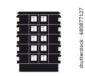 contour apartment building line ... | Shutterstock .eps vector #680877127