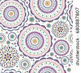 Vector Seamless Pattern In Boh...