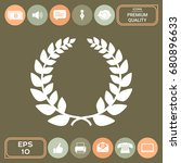 laurel wreath  element for your ... | Shutterstock .eps vector #680896633