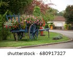 Antique Carriage Decorated Wit...