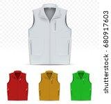 unisex vest isolated on white...   Shutterstock .eps vector #680917603