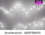 glow light effect. vector... | Shutterstock .eps vector #680938693