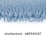 teamwork. large group of stick...   Shutterstock . vector #680940187