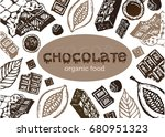 hand drawn doodle cocoa and...   Shutterstock .eps vector #680951323