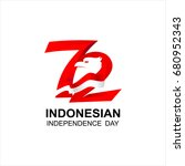 indonesia independence day... | Shutterstock .eps vector #680952343