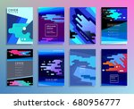 covers with minimal design.... | Shutterstock .eps vector #680956777