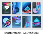 covers with minimal design.... | Shutterstock .eps vector #680956903
