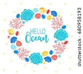 Ocean Wreath With Corals And...