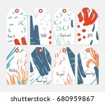 hand drawn creative tags.... | Shutterstock .eps vector #680959867