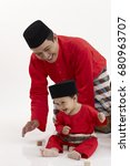 Small photo of malay family ,father and son
