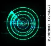 technological global radar...   Shutterstock .eps vector #680966173