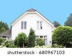 traditional detached dutch... | Shutterstock . vector #680967103