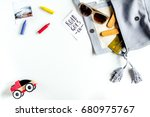 planing trip with child with... | Shutterstock . vector #680975767