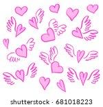 vector illustration hand drawn...   Shutterstock .eps vector #681018223