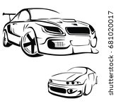 sport car vector | Shutterstock .eps vector #681020017