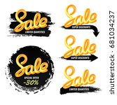 a set of banners sale in a... | Shutterstock .eps vector #681034237