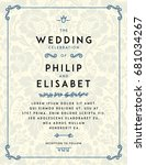 vintage wedding invitation... | Shutterstock .eps vector #681034267