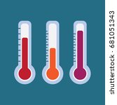 thermometer. instruments... | Shutterstock .eps vector #681051343