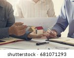 engineer and architect concept  ... | Shutterstock . vector #681071293