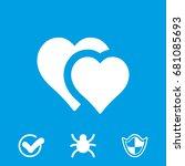 heart icon vector   Shutterstock .eps vector #681085693