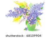 bunch of lilac  blossoming tree ... | Shutterstock . vector #68109904