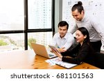 future business leader concept. ... | Shutterstock . vector #681101563