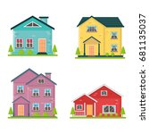 house collection | Shutterstock .eps vector #681135037